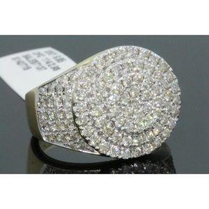 Nice men's 3 carat 10k yellow gold diamond ring